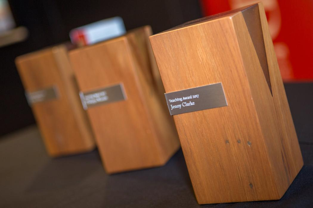 uc teaching awards trophies