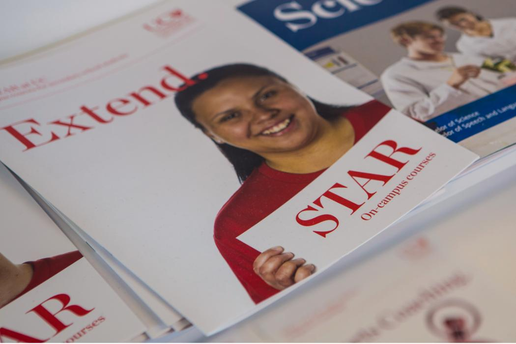 STAR brochures on shelf in Academic Services