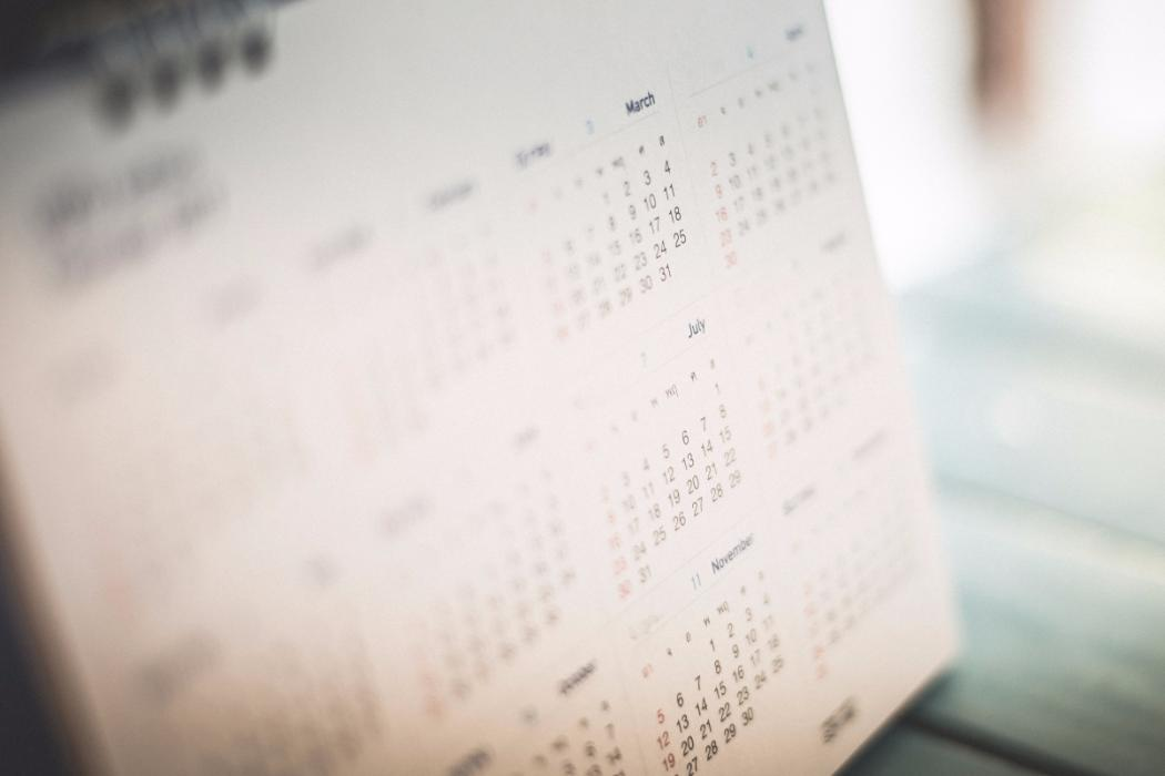 blurred image of calendar