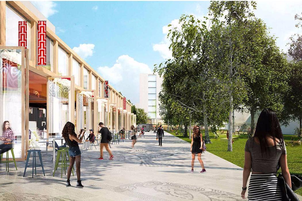 Campus Master Plan concept street