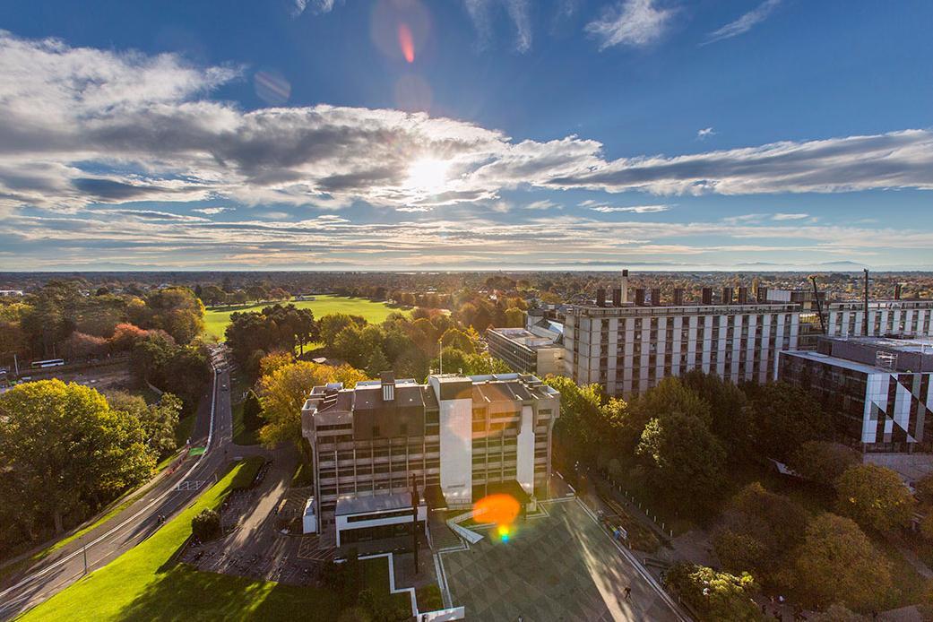 Ilam campus aerial landscape