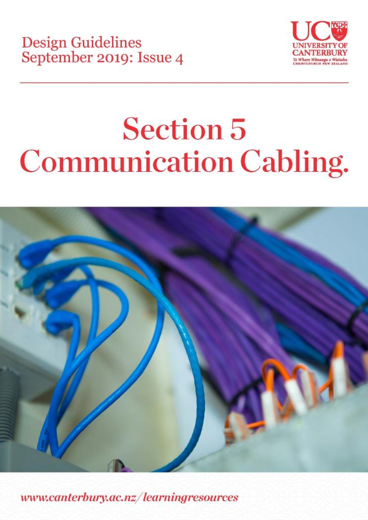 Design Guidelinees - Issue 4 - Communication Cabling