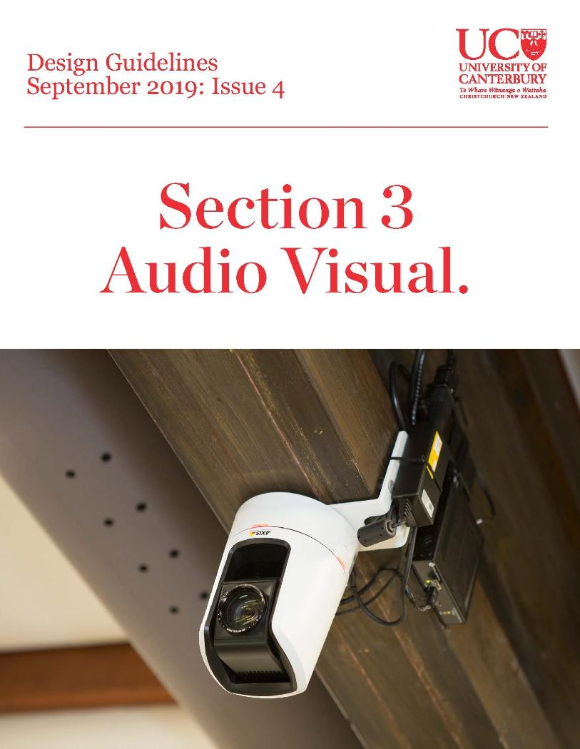 Design Guidelines - Issue 4 - Section 3 - Audio Visual