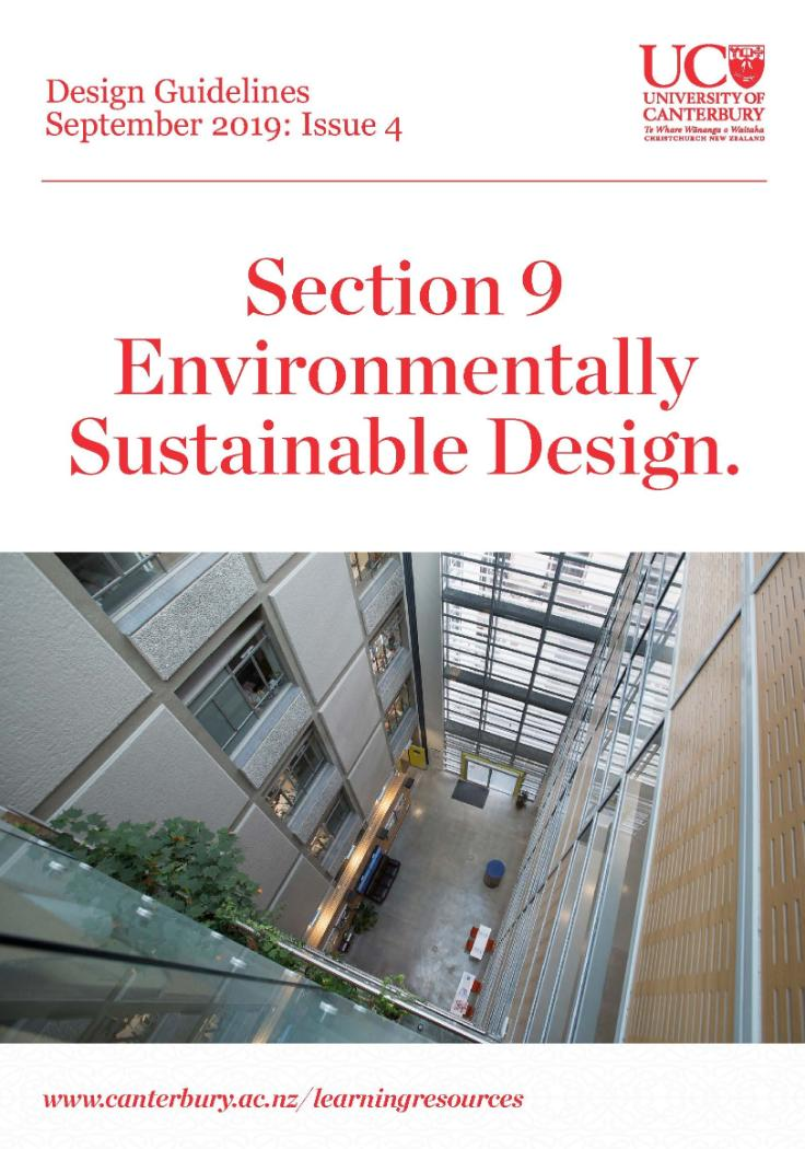 Design Guidelines Environmentally Sustainable Design