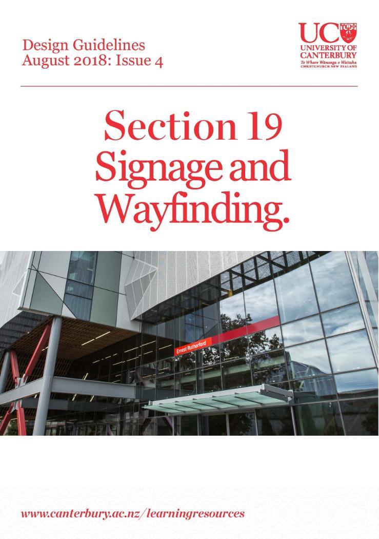 UC DG 19 Signage and Wayfinding