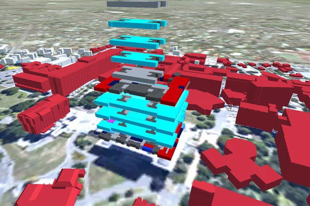 campus buildings concept graphic