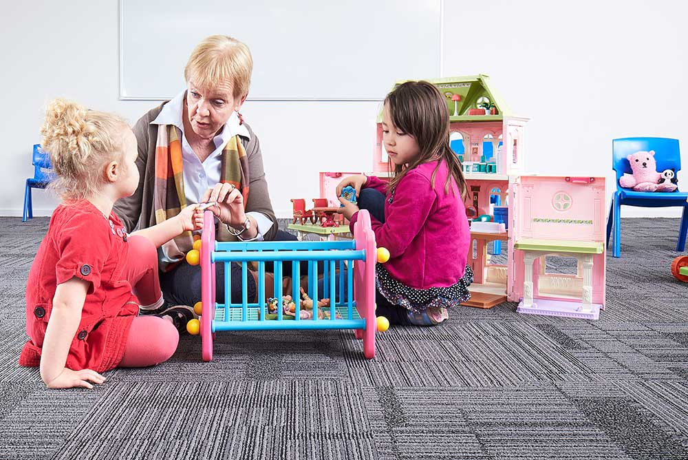 Early childhood laboratory with Erskine fellow
