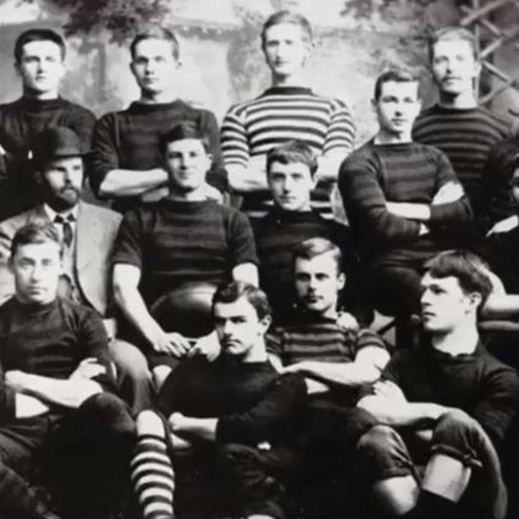 Historic Canterbury College rugby team photo