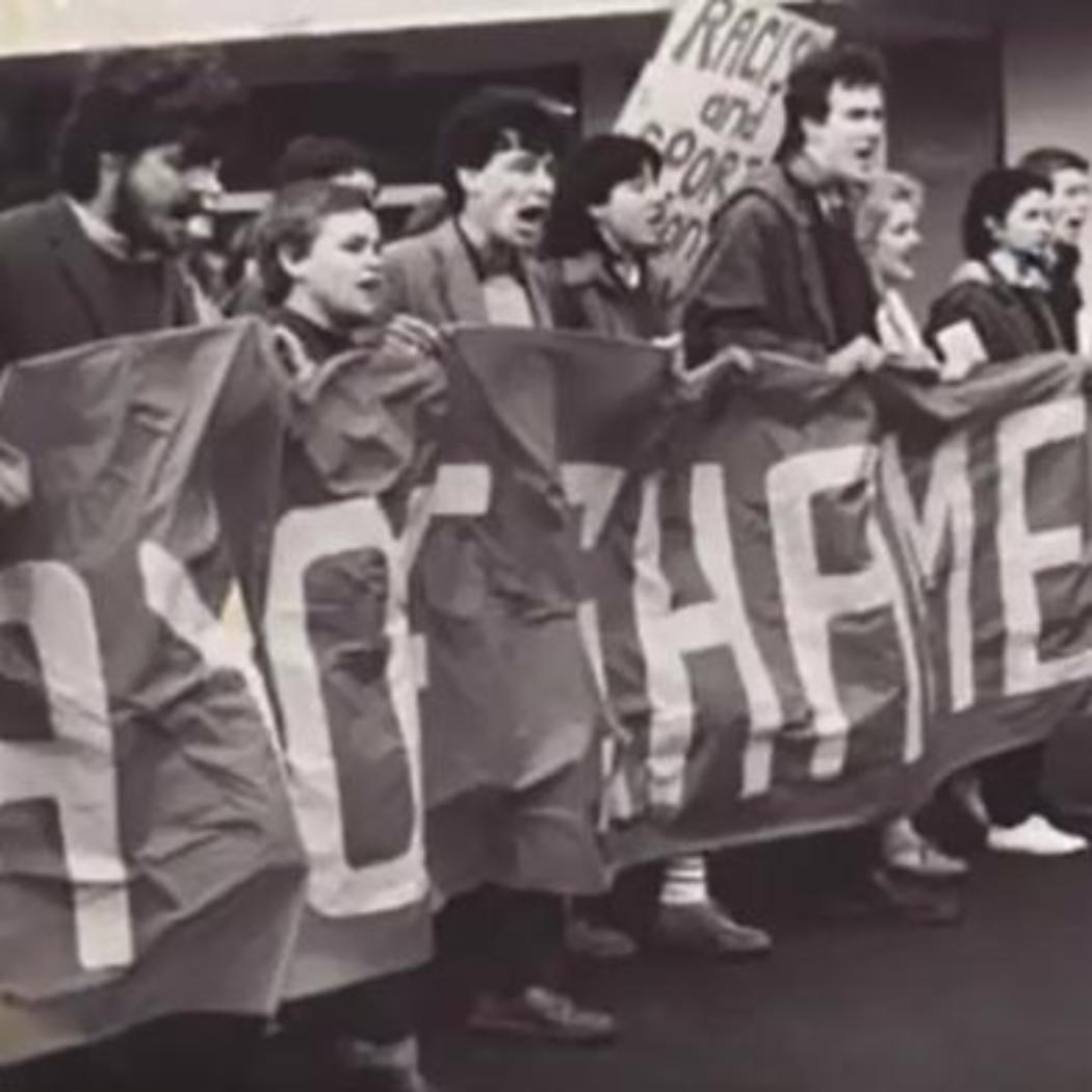 Historic UC demonstration photo