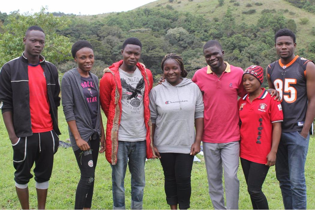 african students involved in nigerian forest project