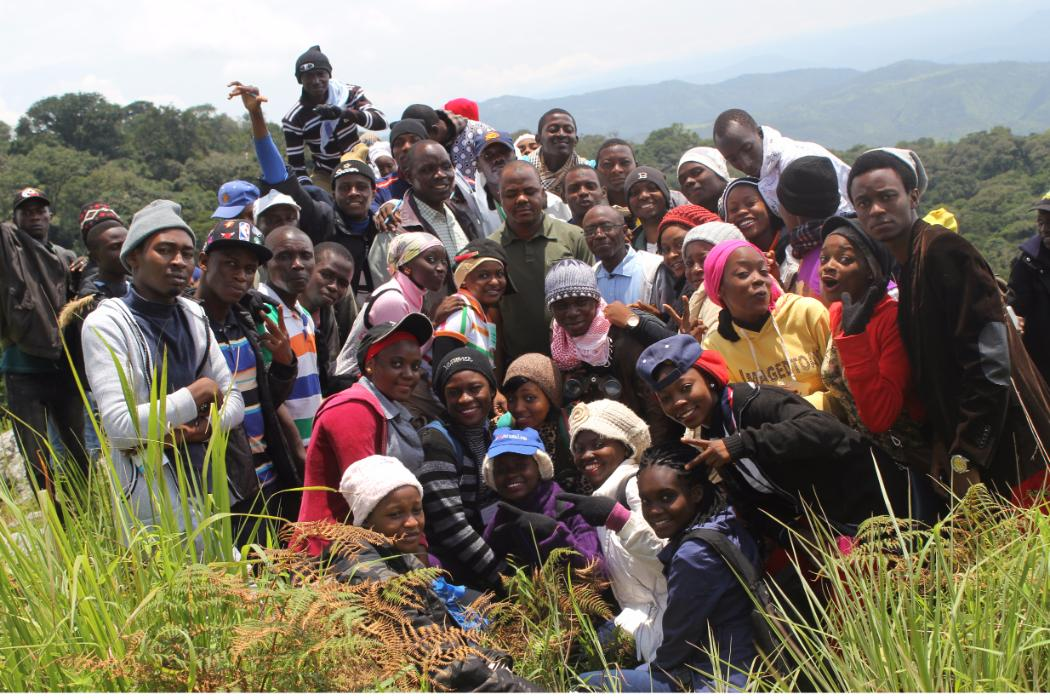 Gombe university students at nigerian field station