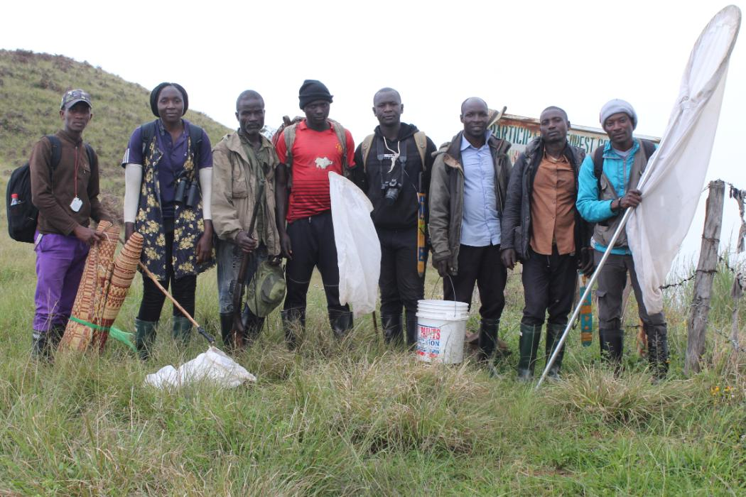 The butterfly collecting team at the Ngel Nyaki field station