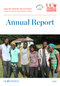 Annual report for the Nigerian Montane Forest Project 2015, Biological Sciences, Hazel Chapman