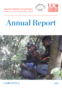 2018 Annual Report for the Nigerian Montane Forest Project (NMFP), School of Biological Sciences. Director is Hazel Chapman