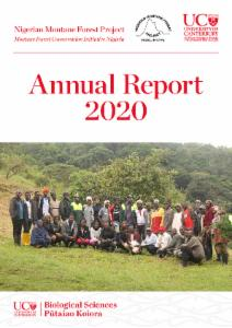 Nigerian Montane Forest Project Annual Report 2020