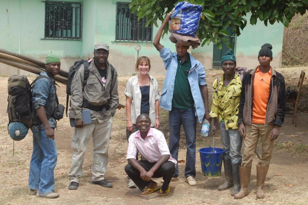 group in nigeria at research station