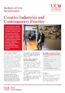 Arts Specialisations flyer