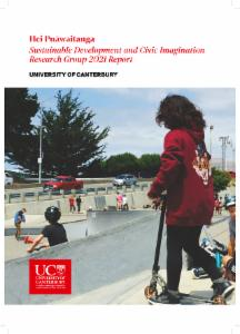 Sustainable Development, Citizenship and Civic Imagination Research report 2021