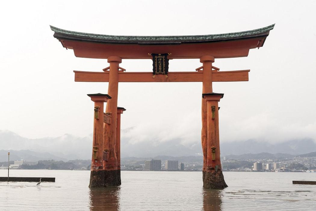 Itsukushima shrine in Hiroshima Japan
