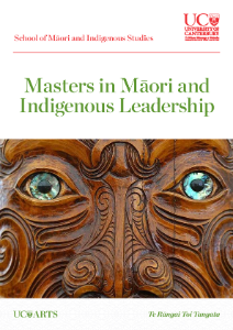 Masters in Māori and Indigenous Leadership Brochure - 2017 updated fees