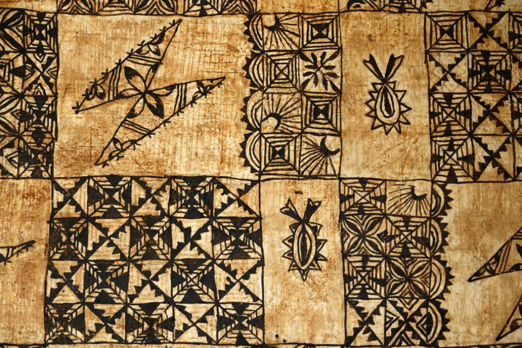 Traditional Pacific Island tapa cloth