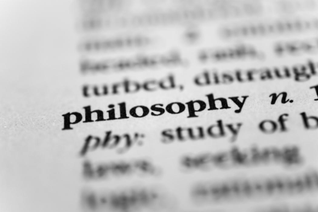 Close up of meaning of philosophy in dictionary
