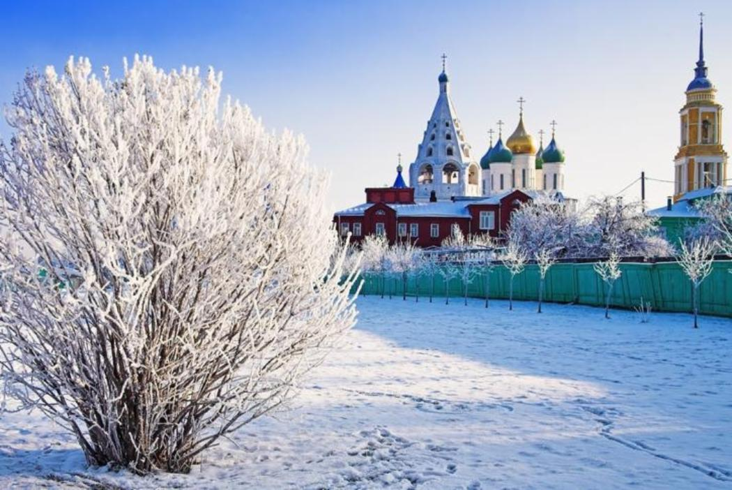 Snowy russian landscape during winter