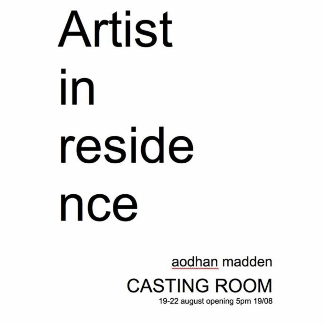 Aodhan Madden Artist in residence