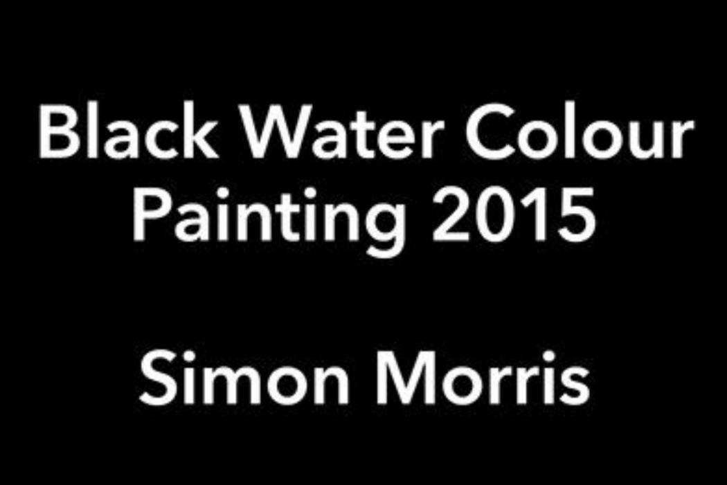 Simon Morris | Black Water Colour Painting 2015