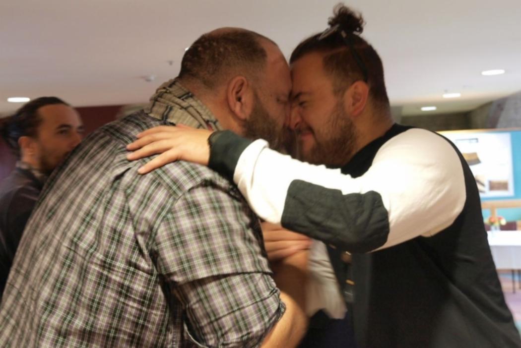 Maori hongi greeting