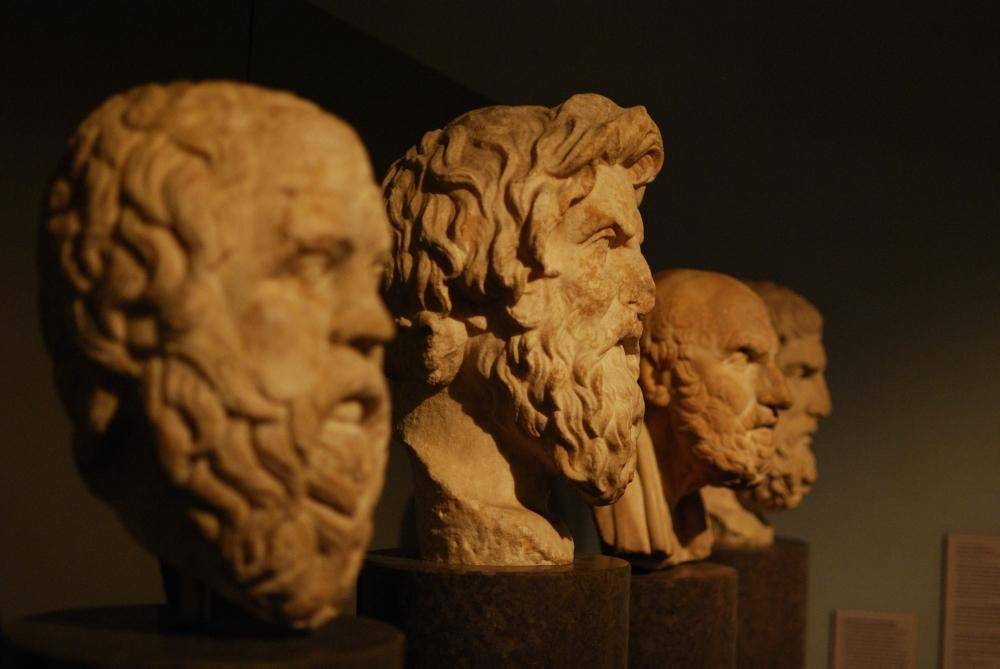 Philosophy Greek marble busts