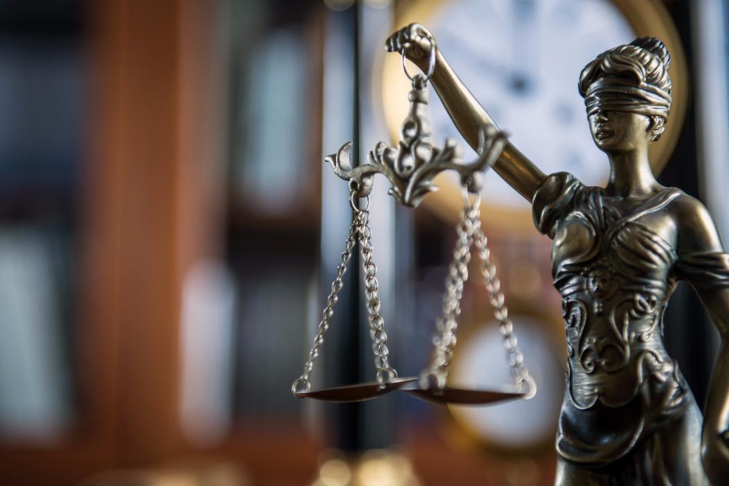 Lady justice bronze model