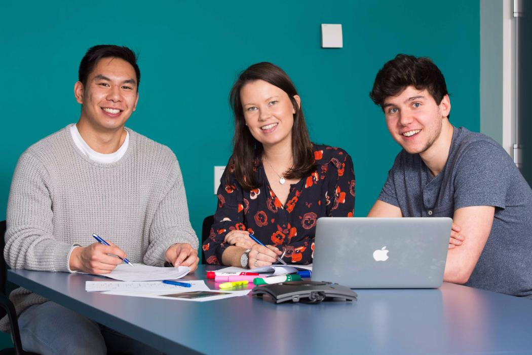 students prepare business case for competition