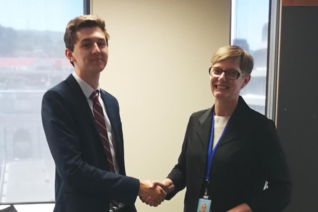 Sam Wynands and Fiona Ross Treasury Challenge 2017