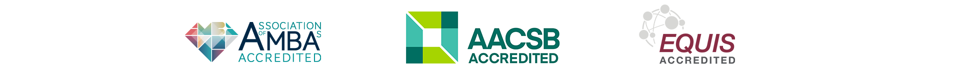Image with AMBA, AACSB, and EQUIS logos