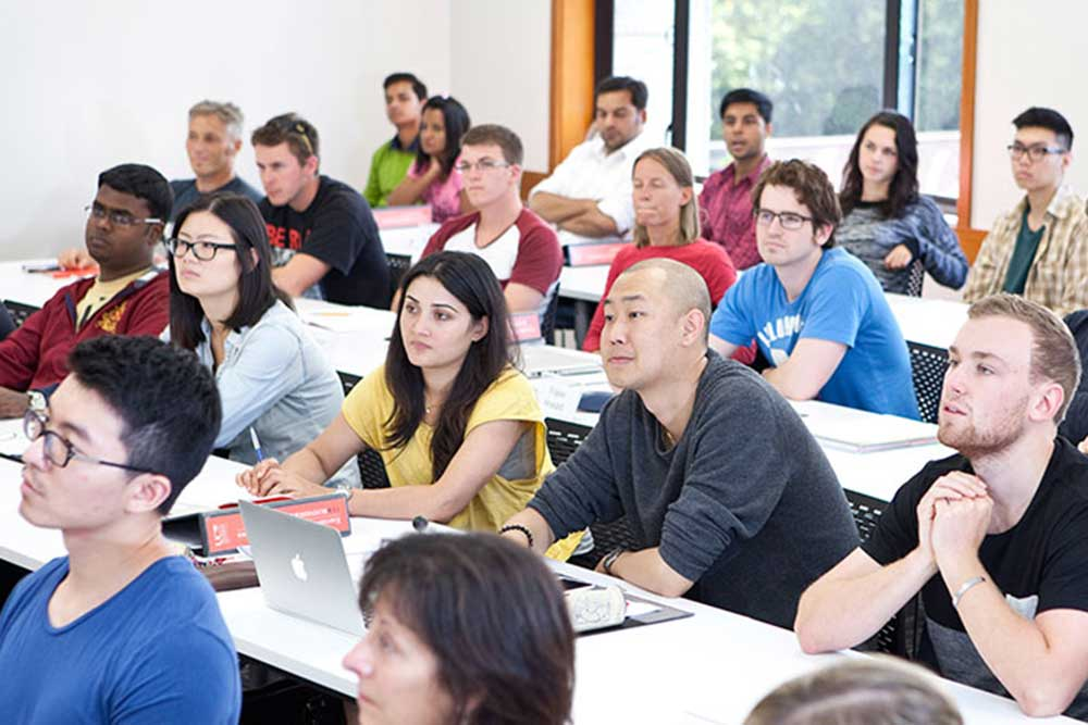 Master of Business Management class at UC © Restricted/University of Canterbury