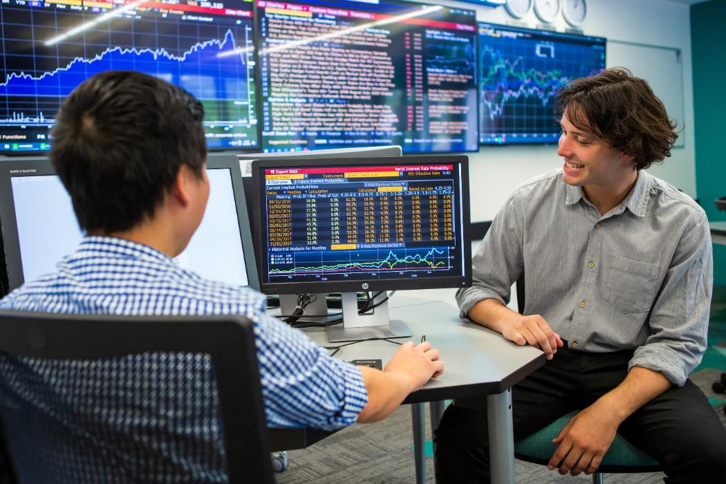 Taine Julian in Trading Room