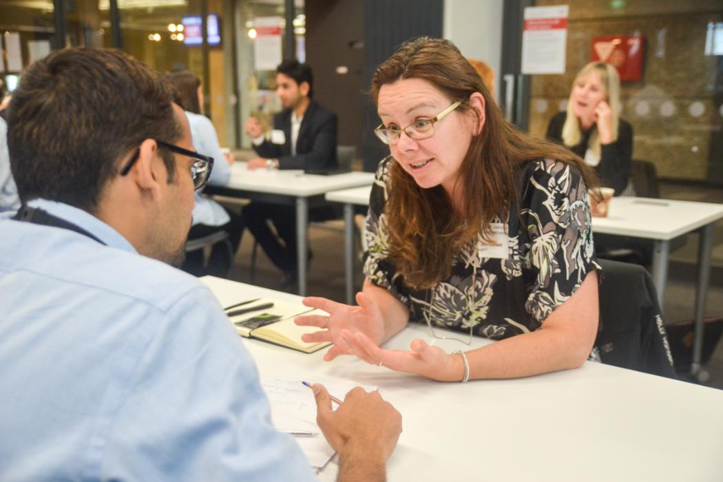 UCE EY Summer Startup speed mentoring with Jen Corbett from Programme Sponsor EY