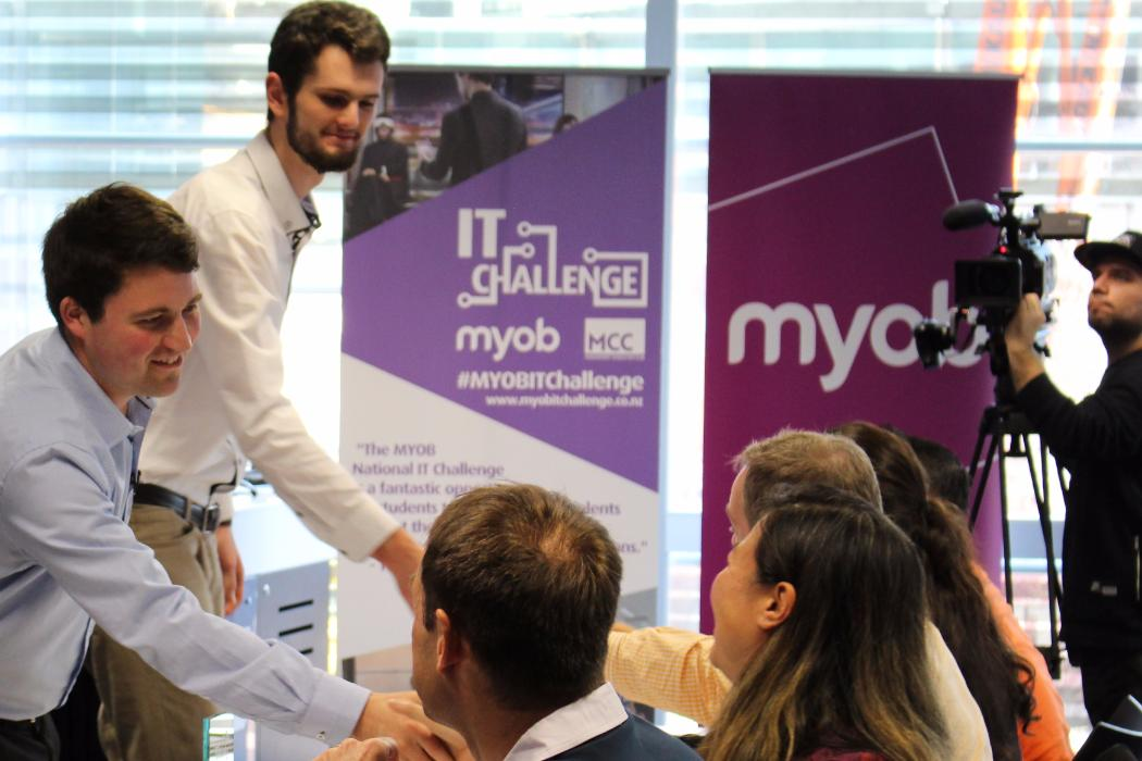 students participating in myob it challenge