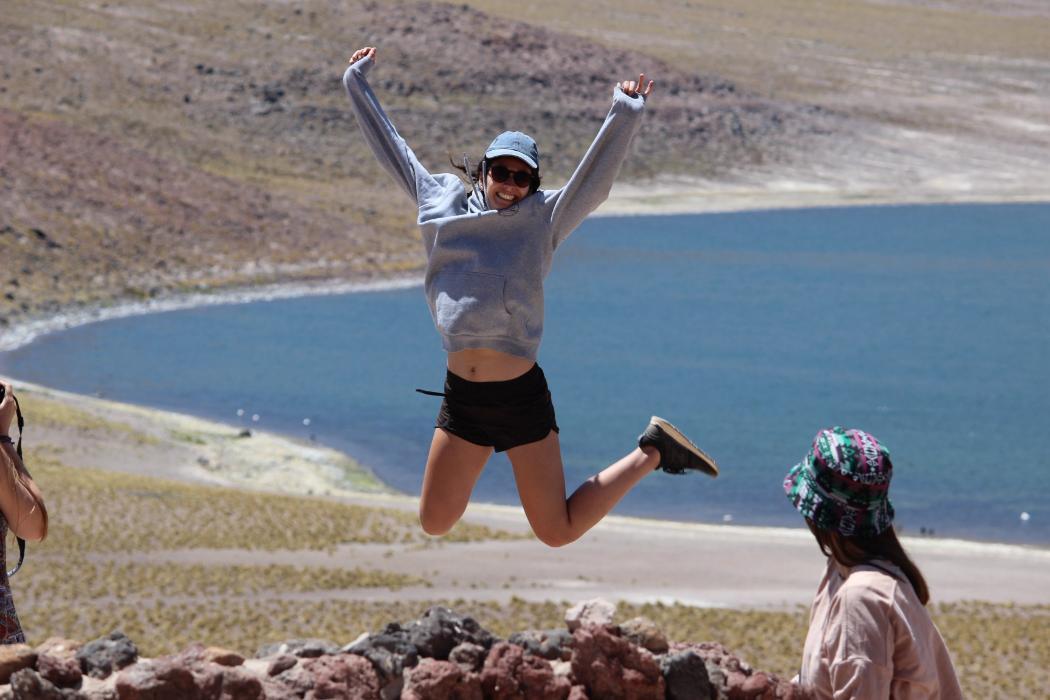 ECON228 student at San Pedro de Atacama