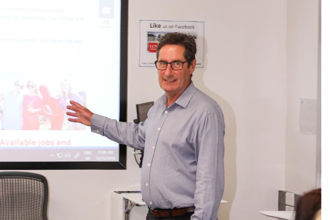 Chris teaching