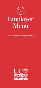 Employer Menu, careers brochure PDF