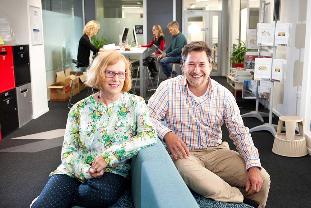 Dr Annabel Taylor and Dr Jorg Finsterwalder