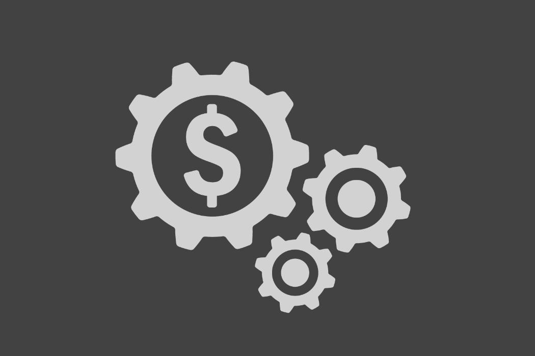 Financial Engineering dollar sign in gears