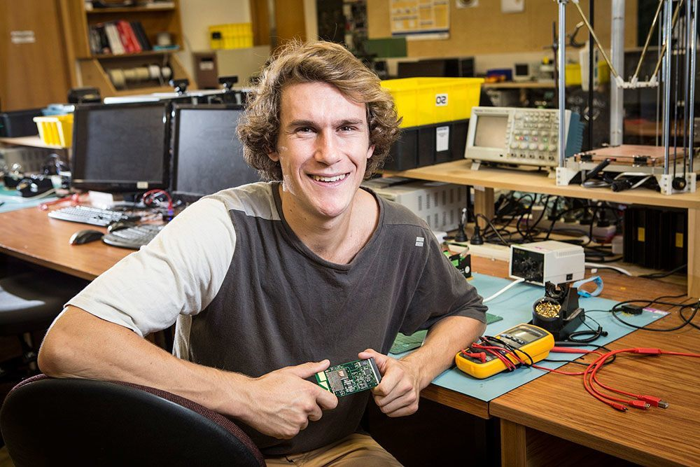Mechatronics engineering graduate Angus Watson