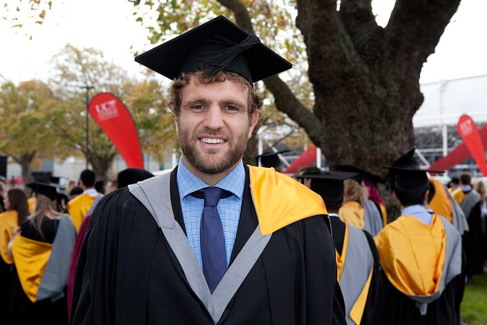 Sam Whitelock, Management graduate