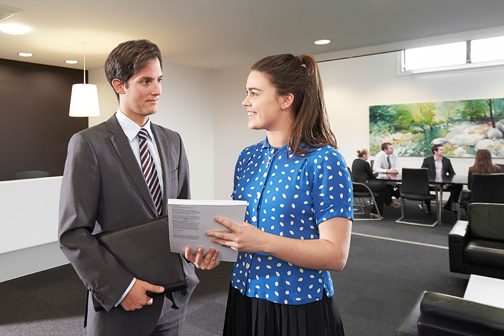 Accounting students on an internship at EY. © Restricted/University of Canterbury