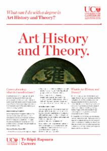 Careers Art History and Theory