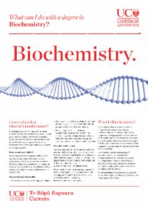 Careers Biochemistry