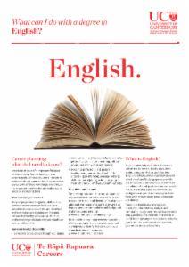 Careers English